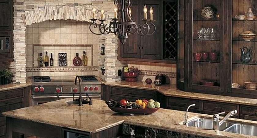 Create Rustic Kitchen Design Help Stone Veneers