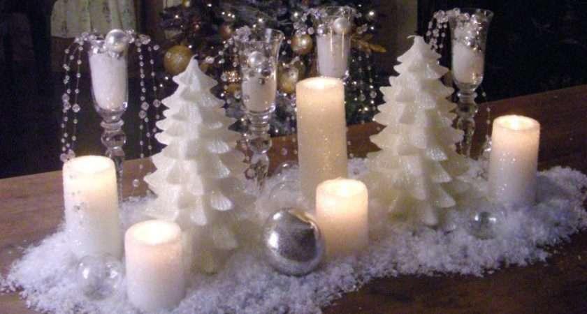 Create Snowy Candle Centerpiece Hgtv