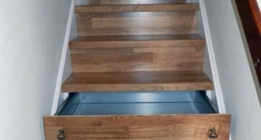 Created Stairs Drawers Plenty Storage Space