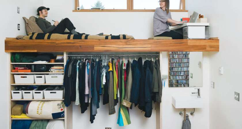 Creative Clothes Storage Solutions Small Spaces Digsdigs