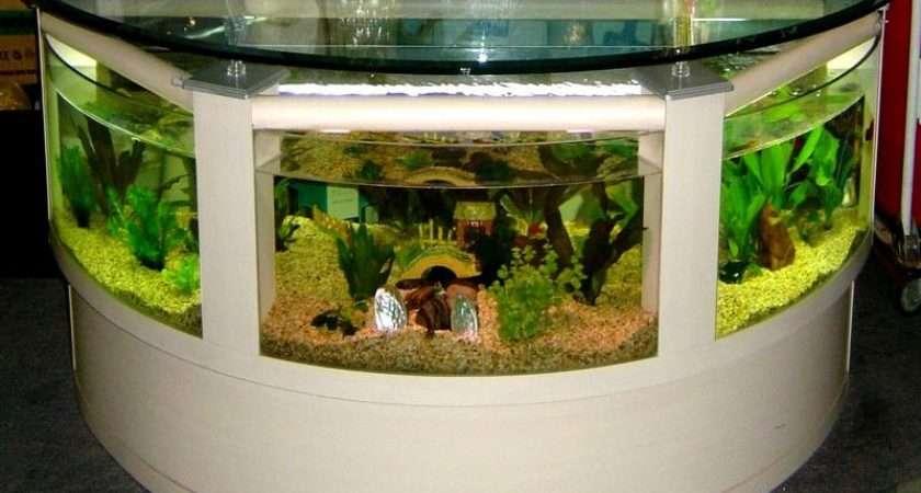 Creative Home Bar Table Aquarium Decoration Ideas