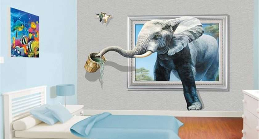 Creative Wall Mural Elephant Animal