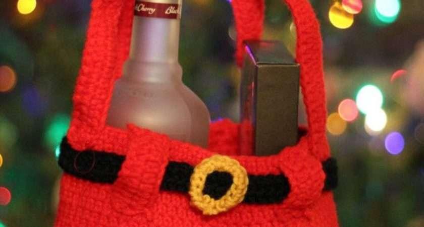 Crochet Santa Pants Gift Bag Pattern