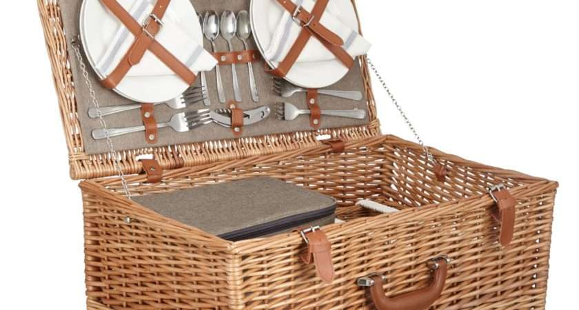 Croft Collection Person Luxury Wicker Picnic Octer