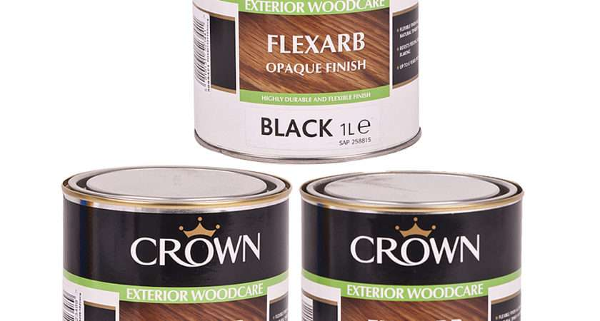 Crown Flexarb Opaque Wood Paint Coating Various