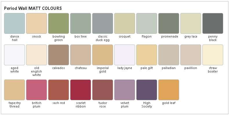 Crown Period Colours Colour Chart Swatch Zpseno Kgen