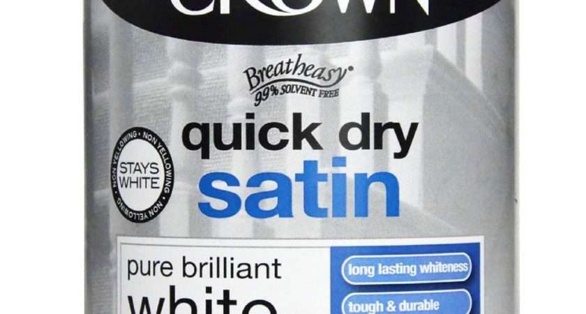 Crown Quick Dry Satin Pure Brilliant White Wood Metal