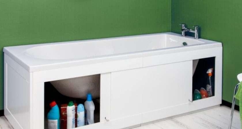 Croydex Unfold Fit White Bath Storage Panel