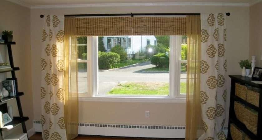 Curtain Plus Roll Window Blind Ideas Large Windows