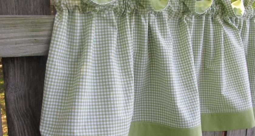 Curtains Ideas Green Gingham Inspiring
