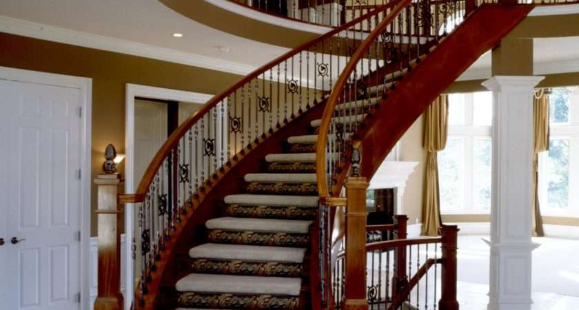 Curved Wooden Banister Rail Handle