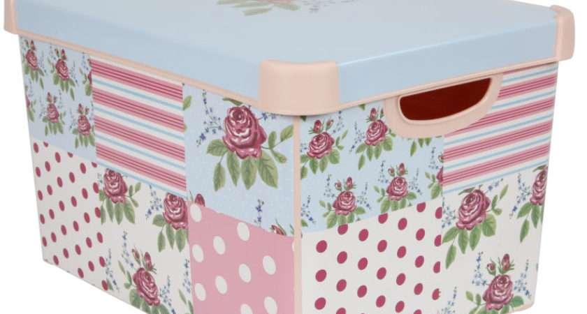 Curver Patchwork Floral Storage Box Litres Hobbycraft