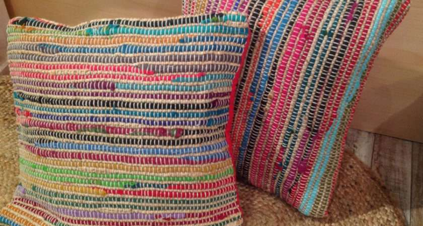 Cushion Covers Recycled Cotton Jute Colours
