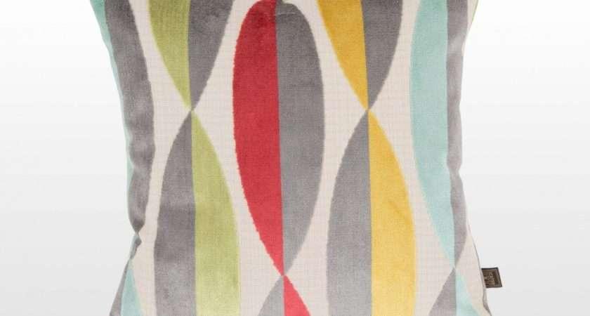 Cushions Multi Coloured Geometric Fabric Cushion Eclipse Spear