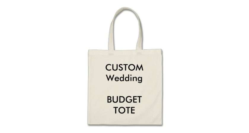 Custom Budget Tote Bag Natural Colour Handles Zazzle