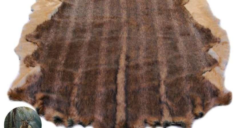 Custom Faux Fur Animal Hide Pelt Rug Deer Bear Sheepskin
