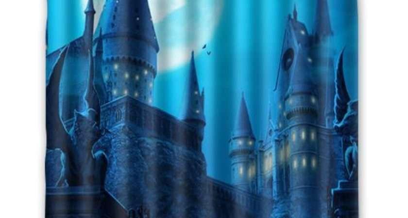 Custom Harry Potter Castle Waterproof Shower Curtain