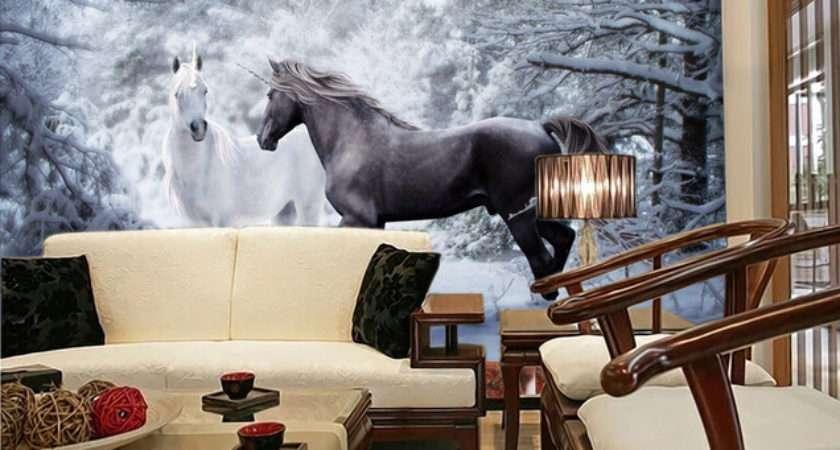 Custom Horse Black White