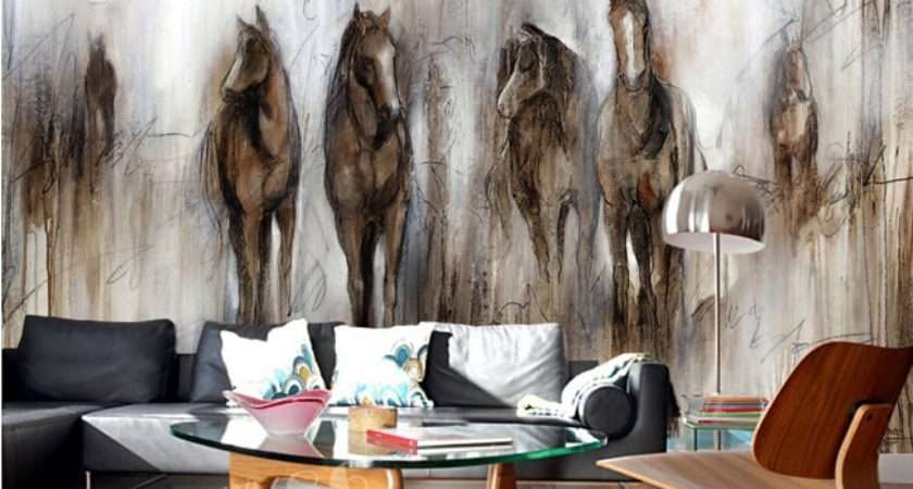 Custom Horse Retro Abstract Painting