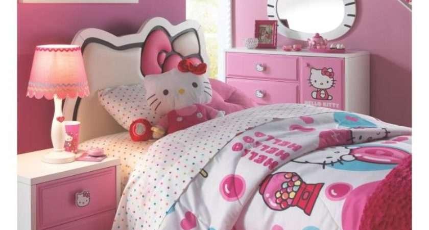 Cute Girls Bedroom Design Ideas Hello Kitty Theme