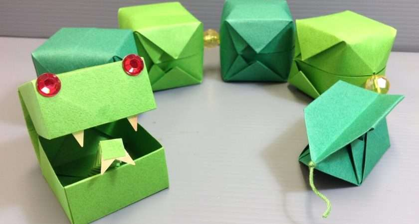 Cute Origami Snake Easy Craft Project Youtube