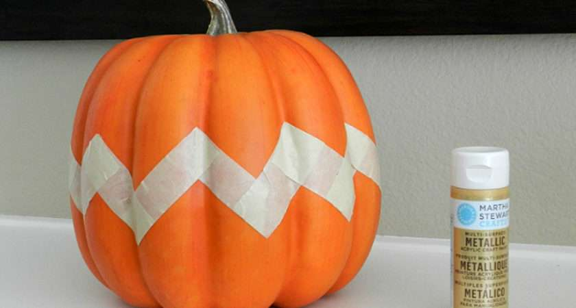 Cute Pumpkin Painting Ideas Painted Top Half