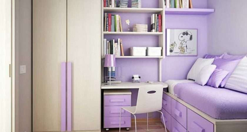 Cute Teen Girl Room Ideas Purple Color Theme Home