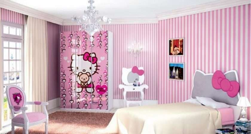 Cutest Hello Kitty Girls Bedroom Designs Decorations