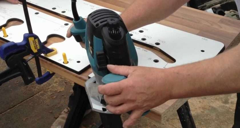 Cutting Rounded Edge Kitchen Worktop Router Youtube
