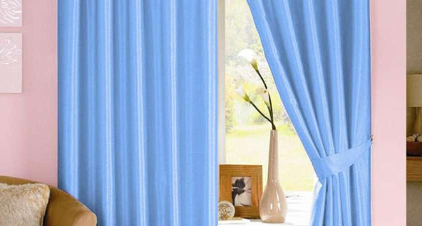 Dahlia Light Blue Curtains