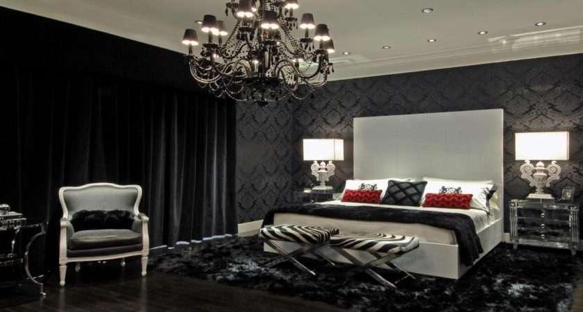 Damask Bedroom Black Bedding