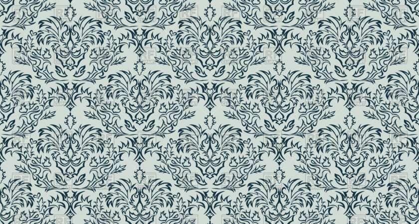 Damask Seamless Grey Pattern