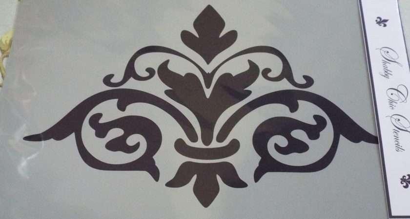 Damask Stencils Furniture Shabby Chic Autentico Ebay