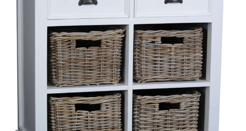 Danish Furniture Small Buffet Drawers Rattan