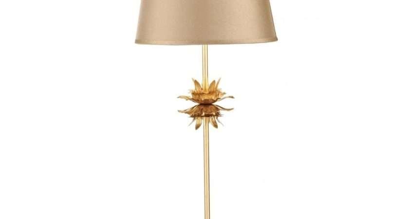Dar Lighting Lois Loi Gold Table Lamp Shade