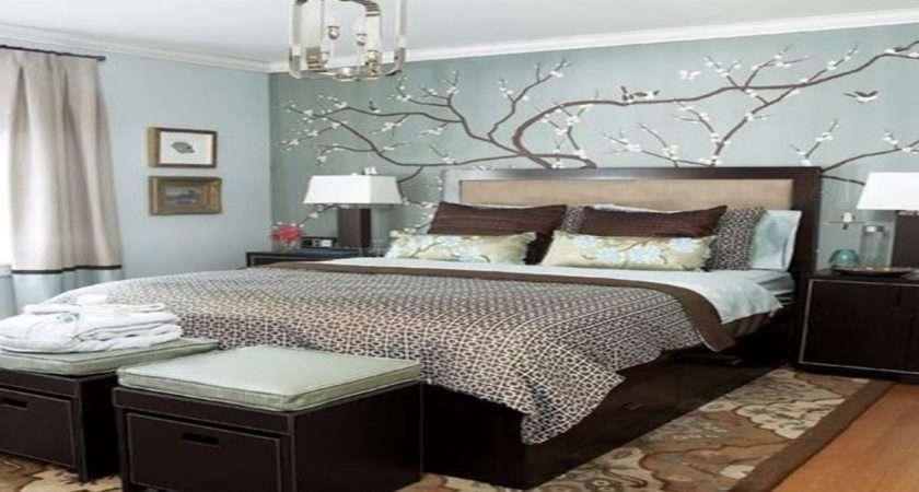 Dark Blue Modern Bedroom Small Master Decorating