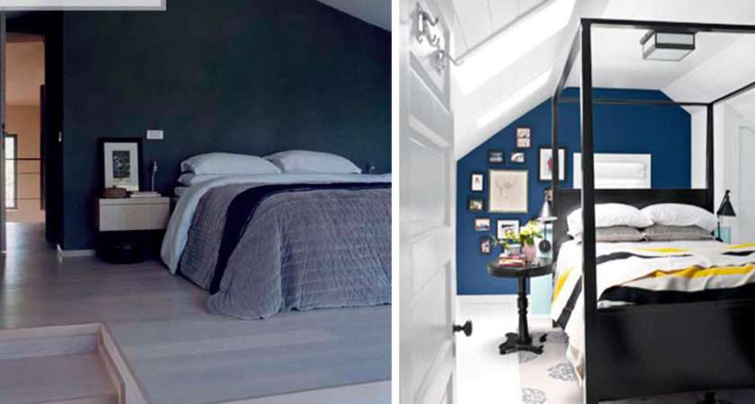 Dark Blue Walls Bedroom