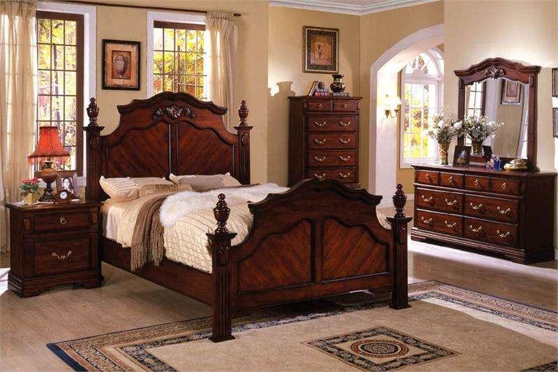 Dark Cherry Bedroom Furniture Decor