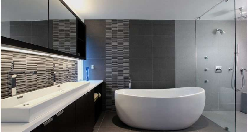 Dark Gray Tile Bathroom City Gate Beach Road