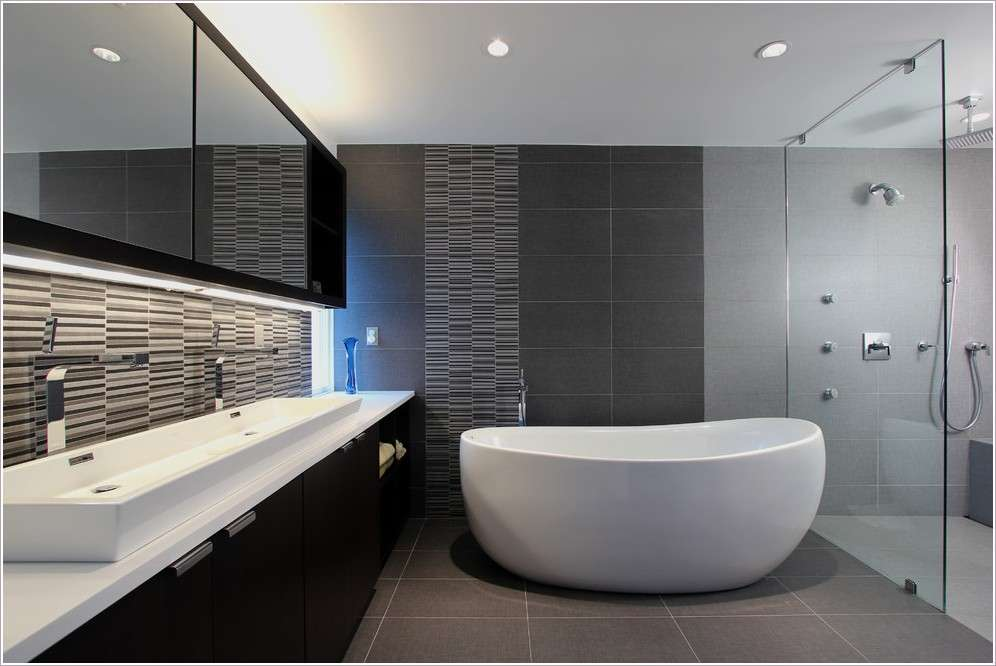 Dark Gray Tile Bathroom City Gate Beach Road