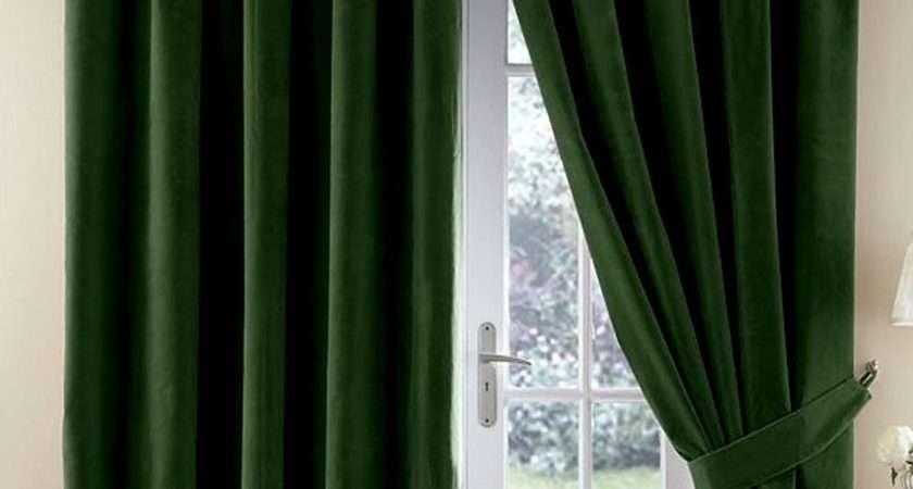 Dark Green Velvet Curtains Gopelling