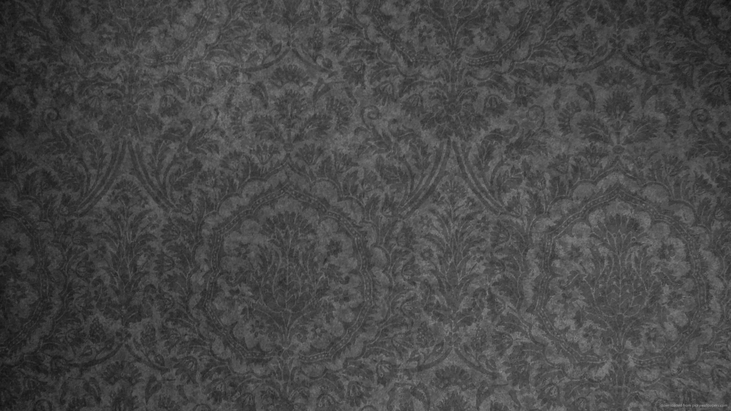 Dark Grey Damask Pattern