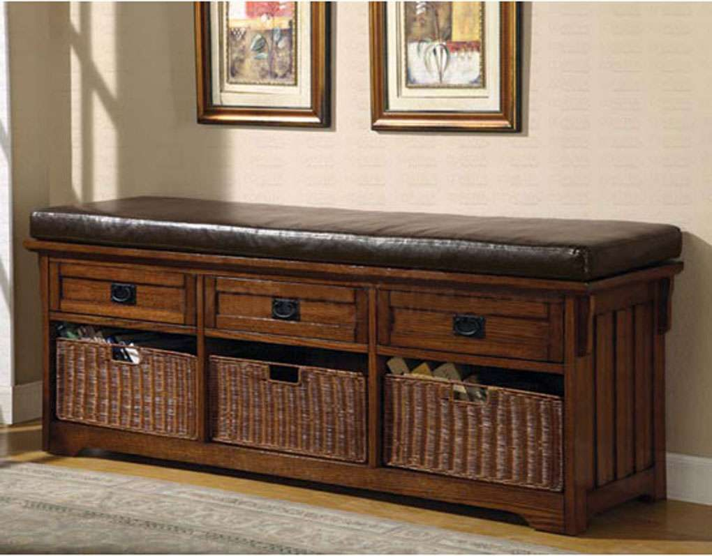 Dark Oak Storage Bench Benches
