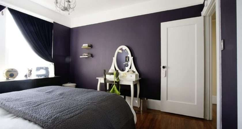 Dark Purple Walls White Trim Bedroom Ideas Pinterest