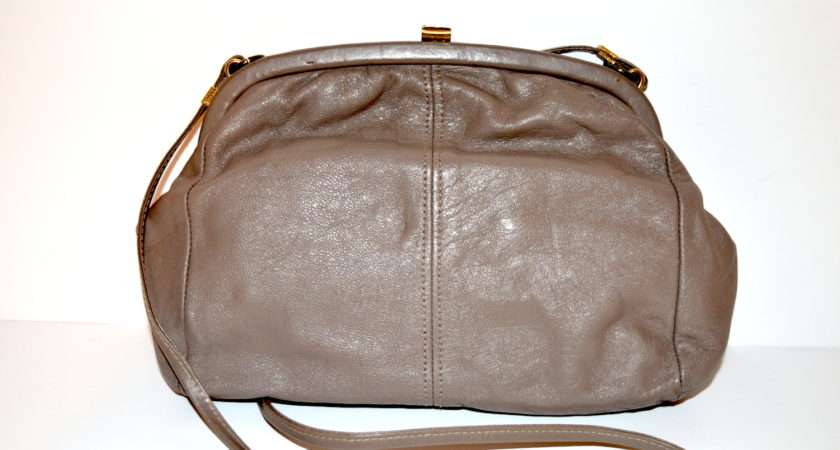 Debenhams Beige Brown Leather Handbag Handpicked Vintage