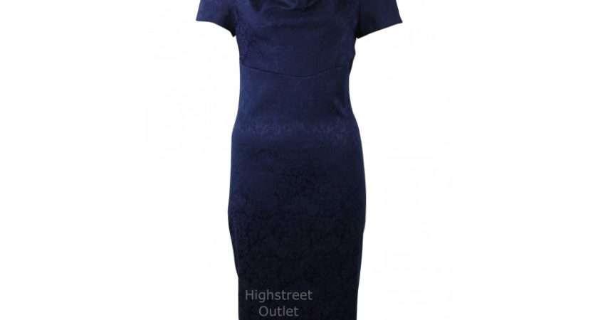 Debenhams Blue Jacquard Dress Dresses Highstreet Outlet
