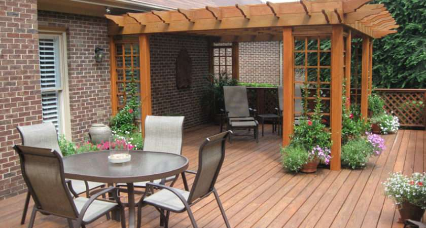 Decking Ideas Our House Simple Wooden Backyard
