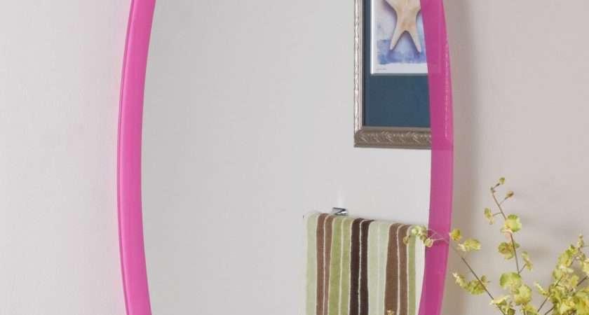 Decor Wonderland Ssm Paula Pink Frameless Wall Mirror