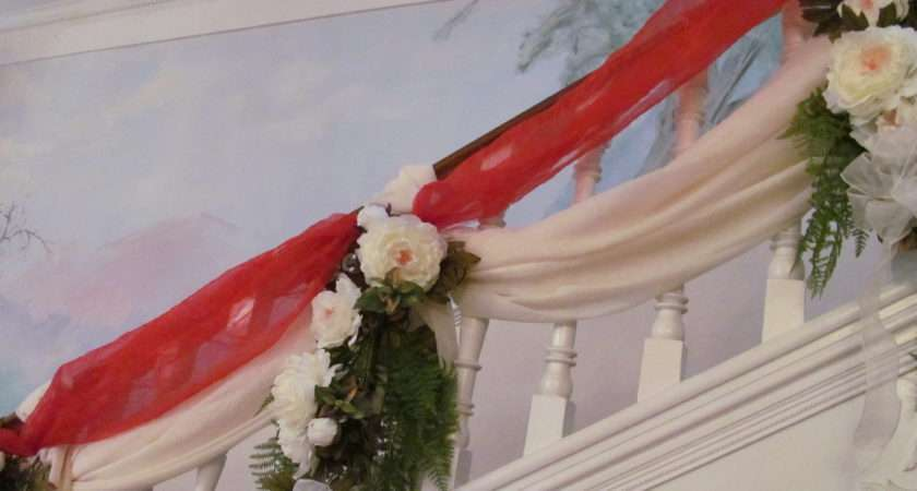 Decorate Bannister Railing Wedding Ideas Pinterest
