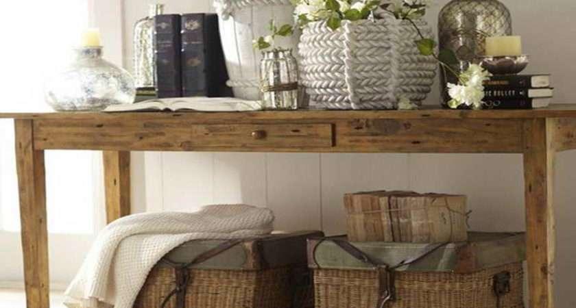Decorate Console Table Pottery Barn Decor